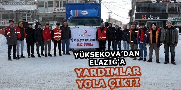 Yüksekova..! Elazığ'a Yardımlar Gönderildi