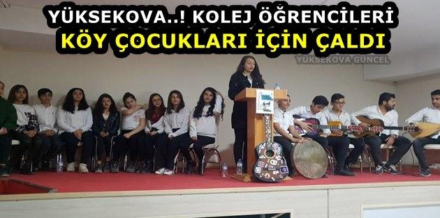 Yüksekova..! Kolej Öğrencileri Köy Çocukları İçin Çaldı