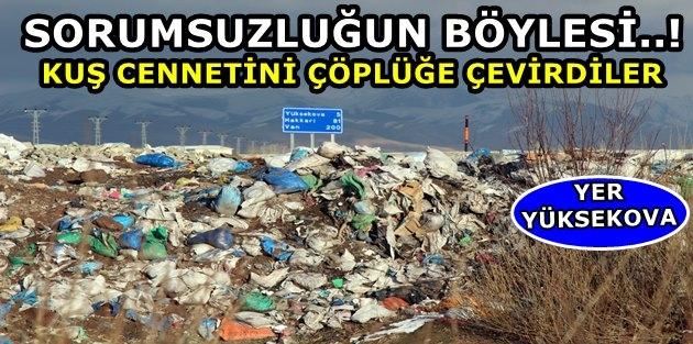 Yüksekova Kuş Cennetini Çöplüğe Çevirdiler