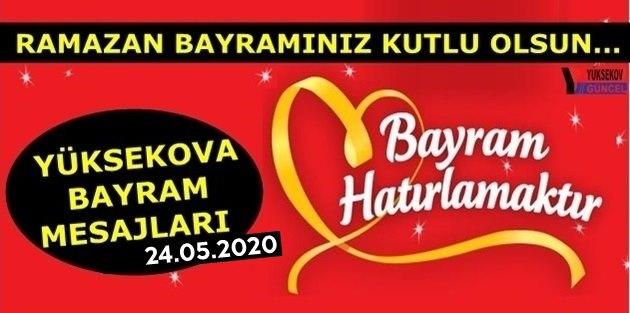 Yüksekova Ramazan Bayram Mesajları - 2020