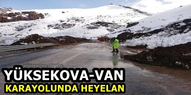 Yüksekova-Van Karayolunda Heyelan
