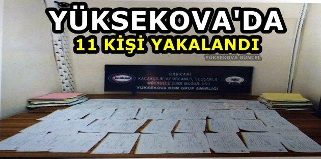 Yüksekova'da 11 Kişi Yakalandı