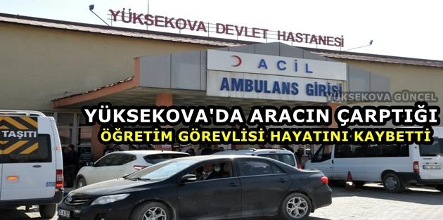 Yüksekova'da Aracın Çarptığı Öğretim Görevlisi Hayatını Kaybetti