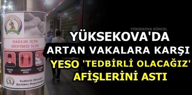 Yüksekova'da Artan Vakalara Karşı, YESO 'Tedbirli Olacağız' Afişlerini Astı