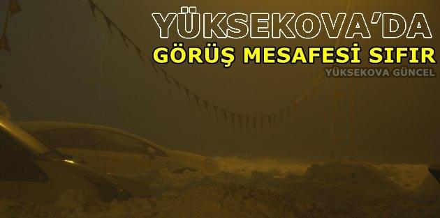 Yüksekova'da Görüş Mesafesi Sıfır
