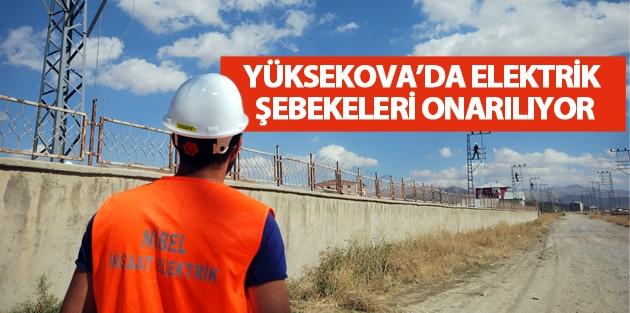 Yüksekova'da Hasar Gören Elektrik Şebekeleri...