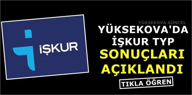 Yüksekova'da İŞKUR TYP sonuçları Açıklandı