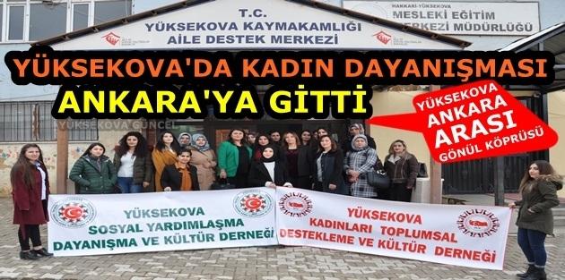 Yüksekova'da Kadın Dayanışması Ankara'ya gitti