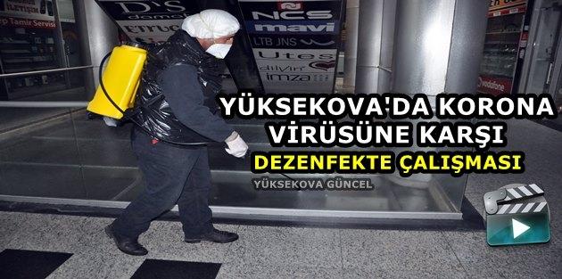 Yüksekova'da Koronavirüse Karşı Eş Zamanlı Temizlik