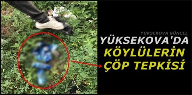 Yüksekova'da Köylülerin çöp tepkisi