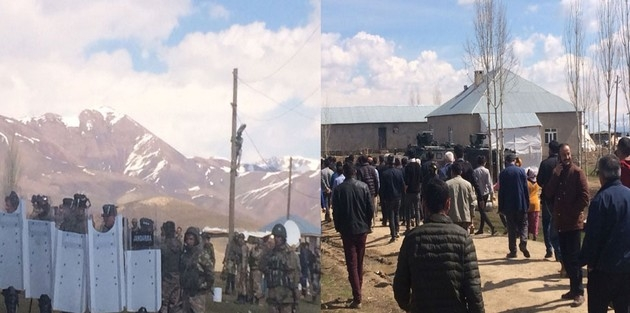 Yüksekova'da köylülerle VEDAŞ ekipleri arasında 'sayaç' gerginliği