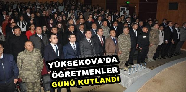 Yüksekova'da Öğretmenler Günü Kutlandı