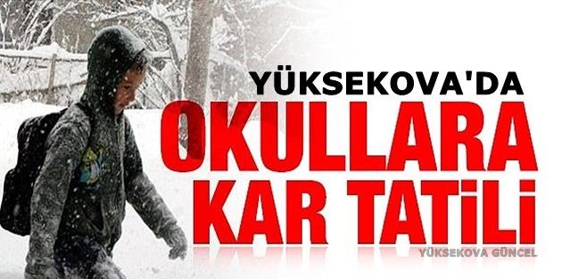 Yüksekova'da Okullar Tatil Edidi