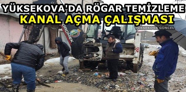 Yüksekova'da Rögar temizleme Kanal Açma Çalışması