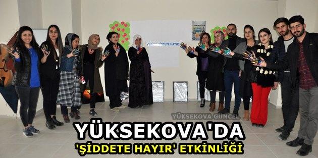 Yüksekova'da 'Şiddete Hayır' Etkinliği