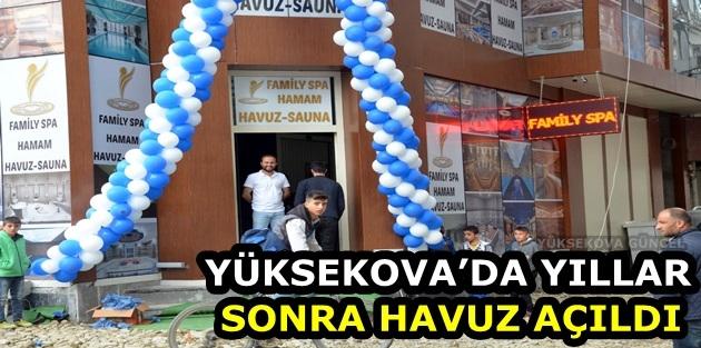 Yüksekova'da yıllar sonra havuz açıldı