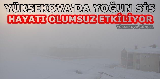 Yüksekova'da Yoğun Sis Devam Ediyor