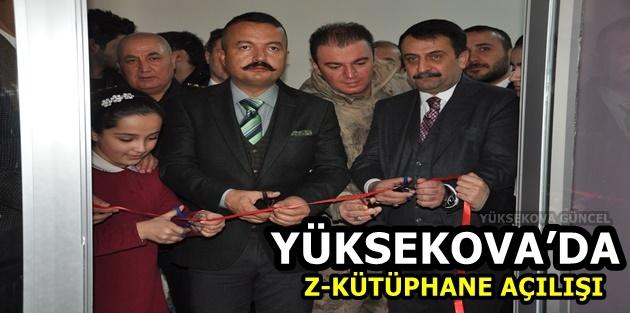 Yüksekova'da 'Z-Kütüphane' açılışı