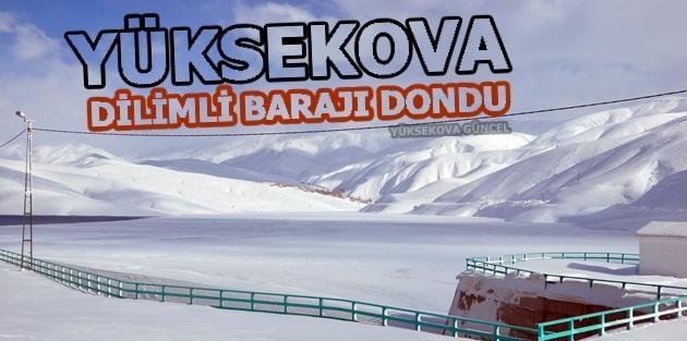 Yüksekova'daki Dilimli Barajı dondu