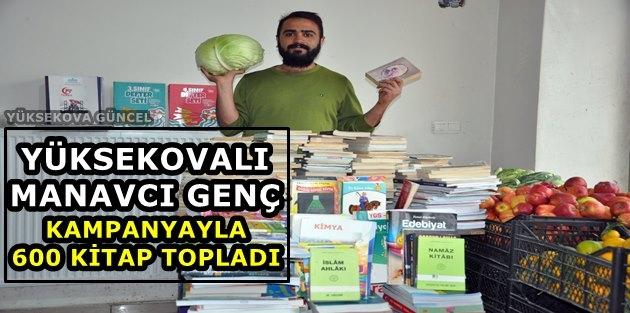Yüksekovalı Manavcı Genç Kampanyayla 600 Kitap Topladı
