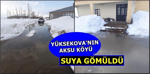 Yüksekova'nın Aksu Köyü Suya Gömüldü