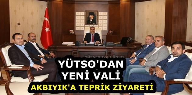 YÜTSO'dan Yeni Vali Akbıyık'a Tebrik Ziyareti