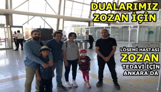 Zozan Tedavi için Ankara'da