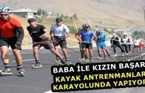 Yüksekova: Kayak Antrenmanlarını Karayolunda Yapıyorlar