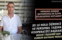 Başkan Özdemir'den Kurban Bayramı Mesajı