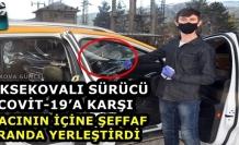 Yüksekova..! Covit-19'a Karşı Taksici'den Brandalı Önlem