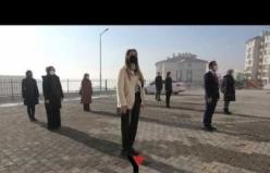 Yüksekova'da Pandeminden Sonra İlk İstiklal Marşı Okundu