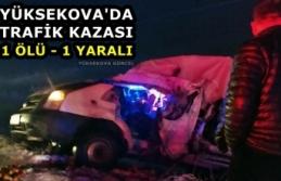 Yüksekova'da Trafik Kazası: 1 Ölü,1 Yaralı