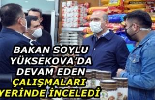 Bakan Soylu Yüksekova'da Devam Eden Çalışmaları...