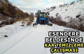 Esendere'de Kar Temizleme Çalışması