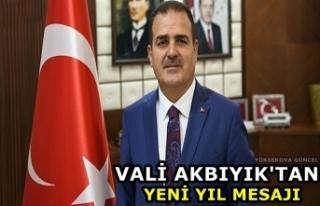 Vali Akbıyık'tan yeni yıl mesajı