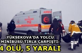 Yüksekova'da Yolcu Minibüsü Tırla Çarpıştı:...