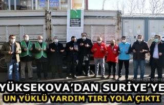 Yüksekova'dan Suriye'ye Un Yüklü Yardım Tırı...
