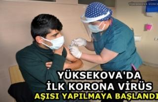 Yüksekova'da İlk Korona Virüs Aşısı Yapılmaya...