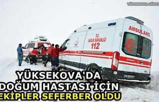Yüksekova'da doğum hastası için ekipler seferber...