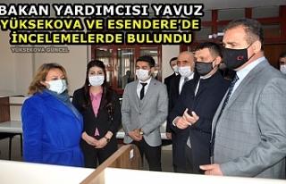 Bakan Yardımcısı Yavuz, Yüksekova Ve Esendere'de...