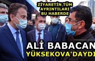 Ali Babacan Yüksekova'daydı