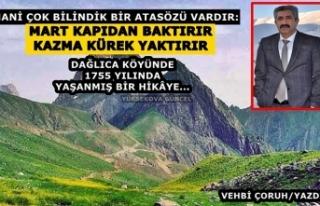 Yüksekova Dağlıca Köyünde 1755 Yılında Yaşanmış...