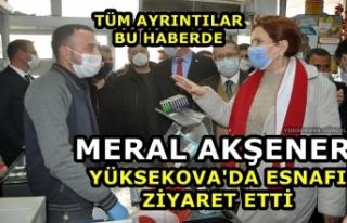 Meral Akşener Yüksekova'da Esnafı Ziyaret...