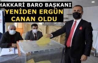 Hakkari Baro Başkanı Yeniden Ergün Canan Oldu