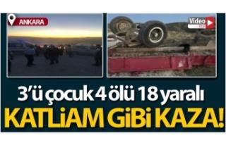 Ankara'da katliam gibi kaza: 3'ü çocuk...
