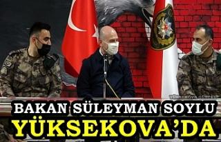 Bakan Süleyman Soylu, Yüksekova'da PÖH merkezini...