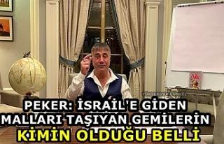 Peker: İsrail'e giden malları taşıyan gemilerin...