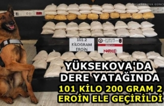 Yüksekova'da dere yatağında 101 kilo 200 gram...