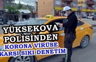 Yüksekova Polisinden Korona Virüse Karşı Sıkı...