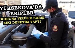 Yüksekova'da Ekipler 'Korona Virüs'e Karşı...